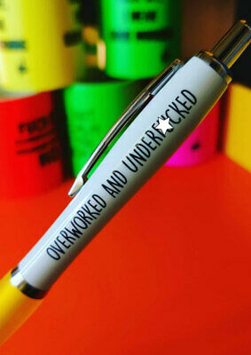 Funny/Novelty/Rude/Offensive/Sweary - Cheeky Chops Pens PEN0 14 - OVERWORKED AND