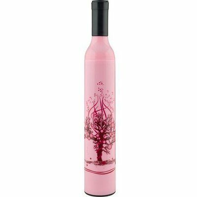 NEW Trademark Home Wine Bottle Umbrella - Pink and Red (80-BU55)
