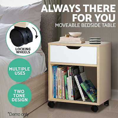 Bedside Table Cabinet Storage Chest Drawers Lamp Side Nightstand Cupboard
