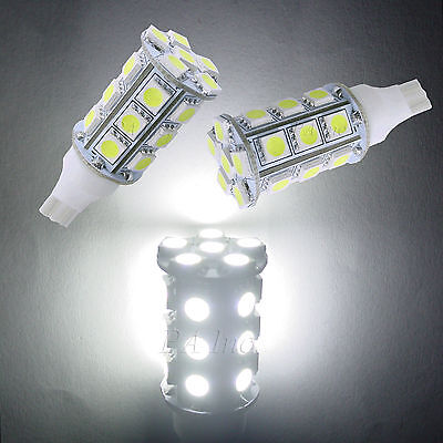 2pcs T15 24 5050 SMD Tail Signal LED Light Bulbs 12VDC