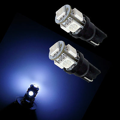 20x T10 Wedge 194 168 5 SMD 5050 LED Car Interior Vanity Light Bulbs WHITE 12V