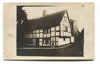 Unknown - Elm Cottage - Tudor house - old real photo postcard