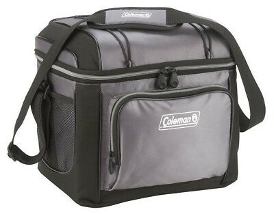 Coleman 18.9L Soft Cooler Cool Box Bag Camping Storage - 24 Cans | Grey/Black