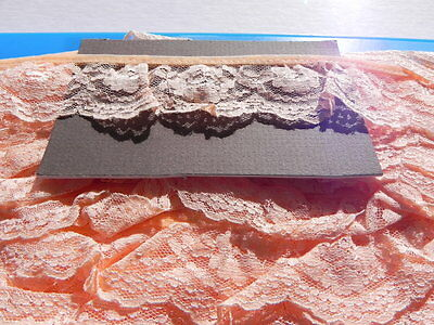 Card of New Gathered Lace - Peach - 4cm