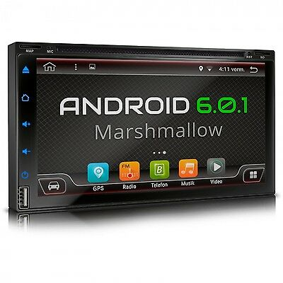 Autoradio Mit Android 6.0.1 Dvd Cd Navi Gps Bluetooth Dab+ Obd2 Wifi 3G Usb Sd