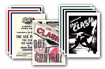 THE CLASH  - 10 promotional posters - collectable postcard set # 1