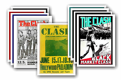 THE CLASH  - 10 promotional posters - collectable postcard set # 2