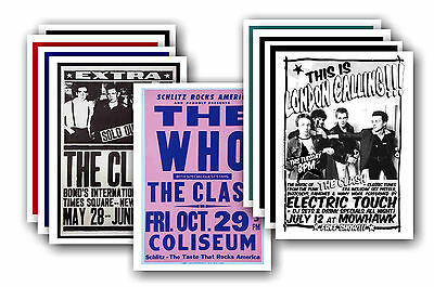 THE CLASH  - 10 promotional posters - collectable postcard set # 3