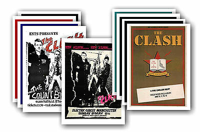 THE CLASH  - 10 promotional posters - collectable postcard set # 4