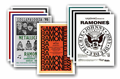 RAMONES  - 10 promotional posters - collectable postcard set # 2
