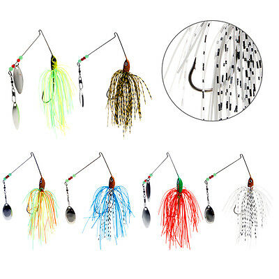 Spinner Fishing Spoon Lures Bass CrankBait Crank Bait Tackle Hook With 2 Blades