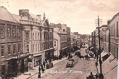 o irish postcard ireland kilkenny high street