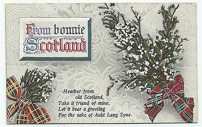 o greetings from scotland scottish postcard glasgow