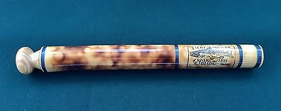 Rare Walton Small Burnt Bamboo Quill Float Tube Wood Top Silk Whipping Centrepin