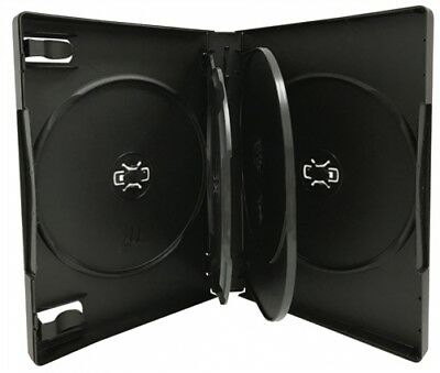 10 Black 5 Disc DVD Cases /w Patented M-Lock Hub