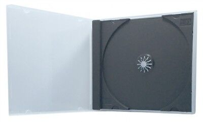 200 STANDARD Black Single VCD PP Poly Cases 10.4MM