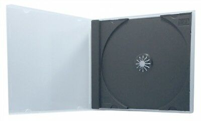 25 STANDARD Black Single VCD PP Poly Cases 10.4MM