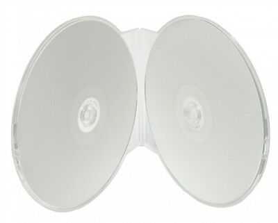 400 Clear Double ClamShell CD/DVD Case