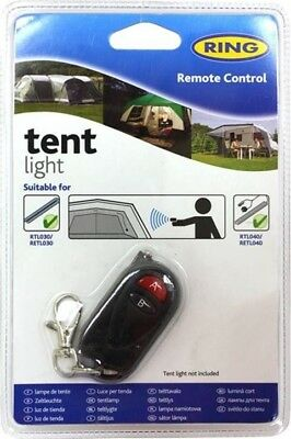 Ring Tent/Camping Light Remote Control Keyring Wireless   Black