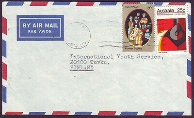 1973 COMMERCIAL COVER WITH 25c IRON/STEEL - CONTEMPORARY USE & FINLAND ADDRESSEE