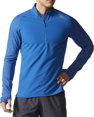 adidas Supernova Half Zip Mens Long Sleeve Running Top - Blue