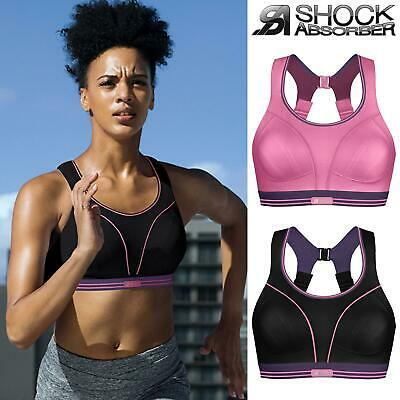 Shock Absorber Ultimate Run Sports Bra Pink/Purple or Black/Purple 32 - 38 A - G