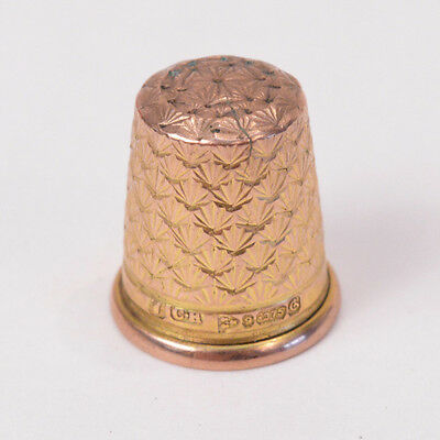C346 Beautiful Vintage 9K Yellow GOLD Thimble CHESTER BRITAIN 1937 3.7g