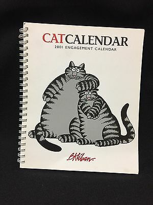 2001 Kliban Engagement Cat Calendar SOOO Funny!!