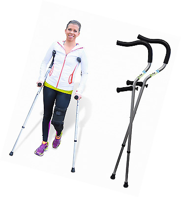 "Life Crutch by Millennial Medical, 1 Pair of Crutches - Universal Size 4'6"" - 6'"
