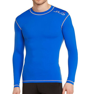Sub Sports Dual Compression Baselayer Mens Long Sleeve Top - Blue