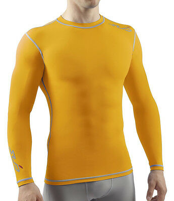 Sub Sports Dual Compression Baselayer Mens Long Sleeve Top - Yellow