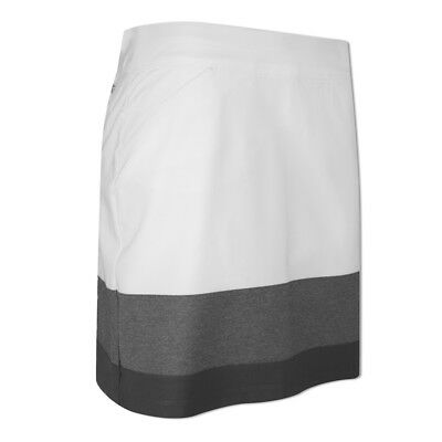 Adidas Ladies Ultimate Adistar Pull-On Skort with Stretch Finish in White