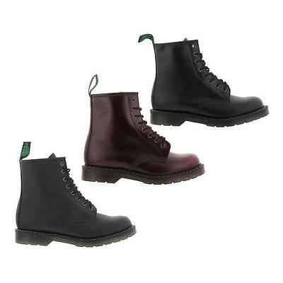 NPS Solovair Made In England Mens 8 Eye Leather Derby Boots Size 8-11