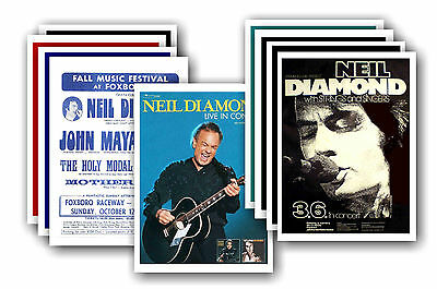 NEIL DIAMOND  - 10 promotional posters - collectable postcard set # 2