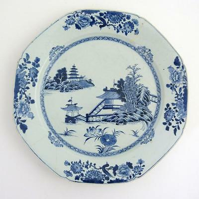 18Th Century Chinese Blue And White Porcelain Charger, Kangxi Period