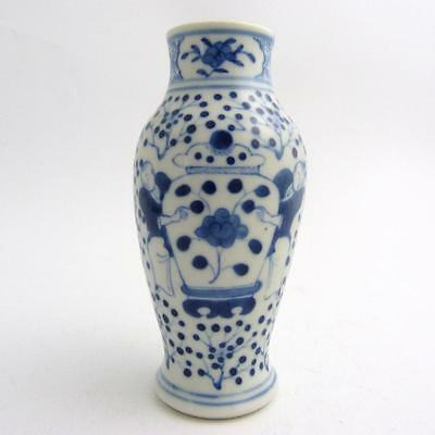 19th CENTURY CHINESE BLUE AND WHITE PORCELAIN BALUSTER VASE