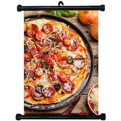 sp217118 Pizza Wall Scroll Poster For Shop Decor Display