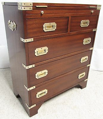 Military Or Campaign Bachelors Chest Of Drawers