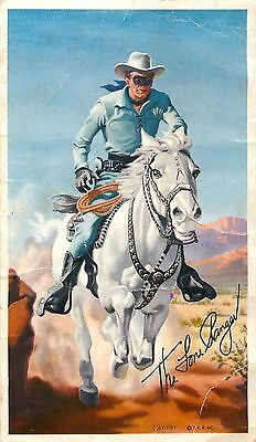 1951 General Mills Cheerios Lone Ranger Contest Entry Confirmation Postcard