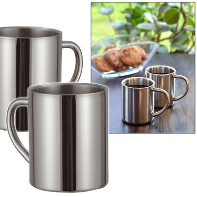 2 x Edelstahl Thermobecher Becher Isolierbecher  Thermosbecher Trinkbecher Tasse