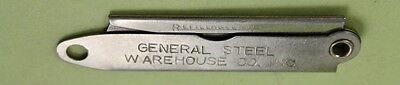 GENERAL STEEL WAREHOUSE Co.Inc.(Lubbock, Tx.) Folding Advertising Box Cutter/$4