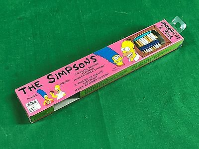 1991 The Simpsons Simpson Family Maxill DH 2 Pack Tooth Brushes New in Box LV6