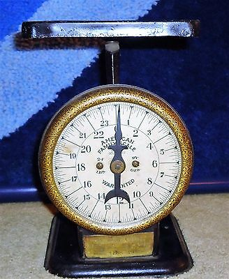 Antique JEWEL TEA Company American Family Scale with BRASS Plate!  COOL!