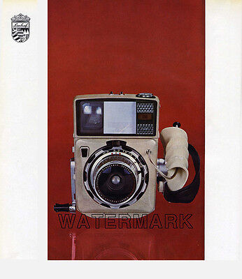 Linhof Press 70 Camera Advertisement, 1967: Color and B&W, Original Vintage AD