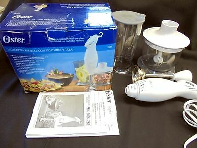 New Oster Immersion Hand Blender Model 2605 with chopper Measuring cup