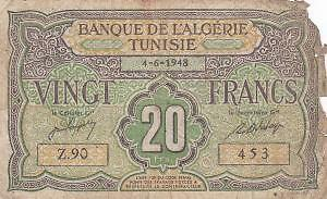 Tunisie - Billet 20 francs 4-6-1948