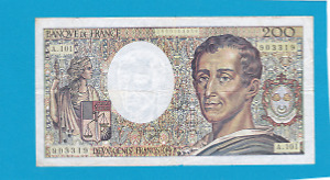 Billet 200 francs Montesquieu 1992 - Alphabet A101