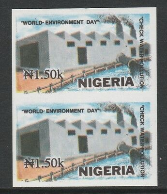 Nigeria 3879 - 1993  ENVIRONMENT DAY 1n50 IMPERF PAIR unmounted mint