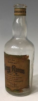 HARMONY BOSTON Bay Rum United Drug Co. Cologne Perfume Barber Bottle paper Label