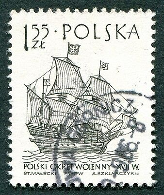 POLAND 1964-5 1z55 SG1461 used NG Sailing Ships 2nd series Wodnik warship #W27